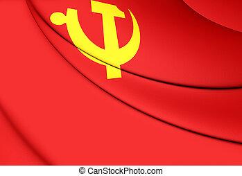 fiesta, bandera, comunista, chino