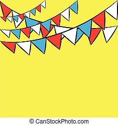 Fiesta  banner, card