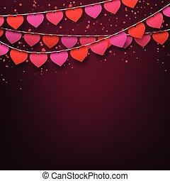 fiesta, celebración, amor, fondo.