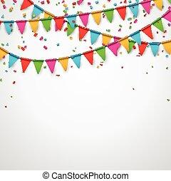 fiesta, celebración, fondo.