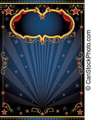 fiesta, circo, noche, lujoso