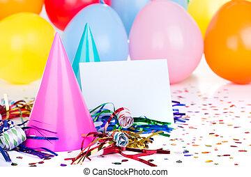fiesta, cumpleaños, decoraciones