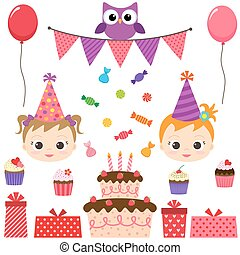 fiesta de cumpleaños, conjunto