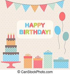 fiesta de cumpleaños, elementos