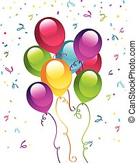 fiesta de cumpleaños, globos