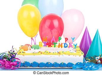 fiesta de cumpleaños, pastel