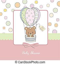 fiesta de nacimiento, delicado, tarjeta
