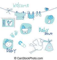 fiesta de nacimiento, diseñe elementos