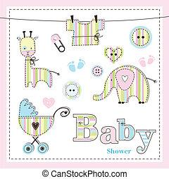 fiesta de nacimiento, elementos, diseño