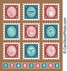 fiesta de nacimiento, sellos