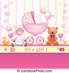 fiesta de nacimiento, tarjeta