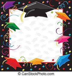 fiesta, graduación, invitación