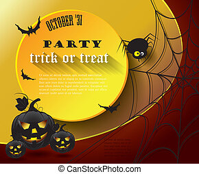 fiesta, halloween, cartel, message.