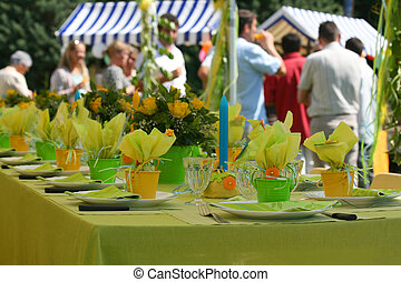 fiesta, jardín