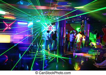 fiesta, música, disco