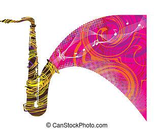 fiesta, música, ilustración