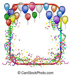 fiesta, marco, globos