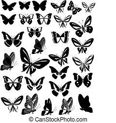 fiesta, mariposas
