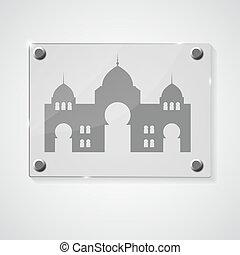 fiesta, musulmán, ilustración, vector, comunidad, plano de ...