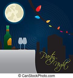 fiesta, noche