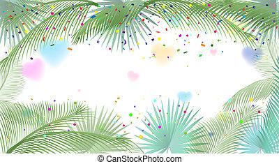 fiesta, palma, marco, leafs, tropical, sukkot