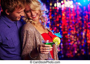 fiesta, pareja