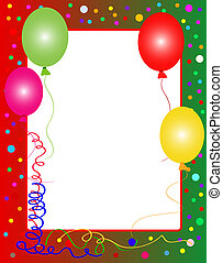 fiesta, plano de fondo, con, globos