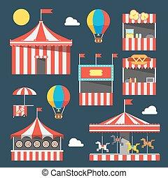 fiesta, plano, diseño, carnaval
