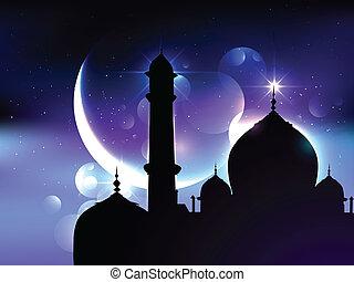 fiesta, ramadan, plano de fondo