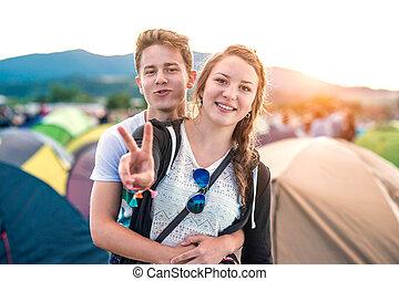 fiesta, verano, adolescentes