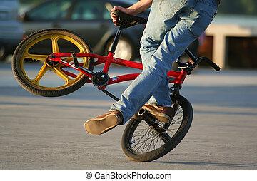 fiets, acrobatisch
