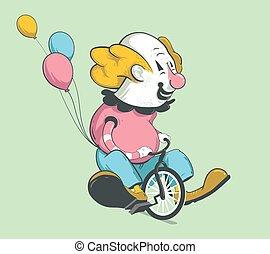 fiets, clown