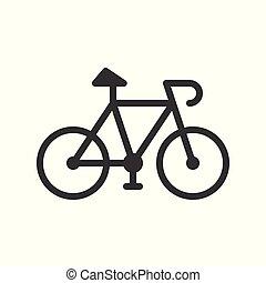 fiets, concept, illustratie, milieu, vector, sparen, pictogram