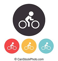 fiets, cycling, pictogram