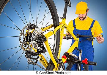 fiets, dressuur, werktuigkundige, stuur