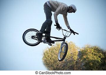 fiets, extreem, cycling, sporten