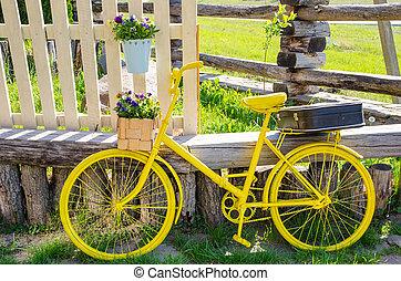 fiets, gele