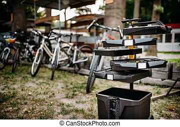 fiets, gereedschap, fiets, uitrusting, toolbox