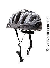 fiets helm, met, riemen