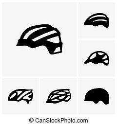 fiets, helmen