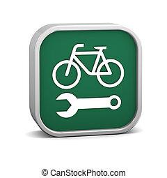fiets, herstelling, meldingsbord