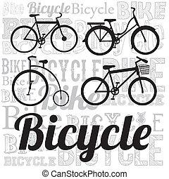 fiets, illustratie