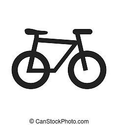 fiets, illustration., thema, vector, ontwerp, pictogram, sportende