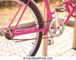 fiets ketting, en, pedalen