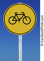fiets, meldingsbord