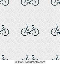 fiets, model, teken., seamless, vector, geometrisch, texture., pictogram