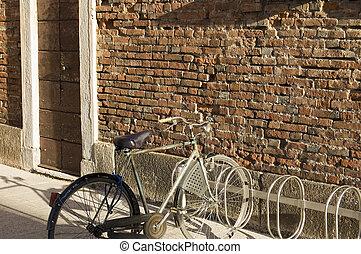 fiets, muur