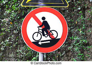 fiets, nee, bicycling, meldingsbord, cycling, of