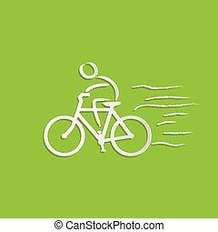 fiets, ontwerp, passagier
