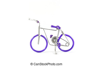 fiets, op wit, achtergrond